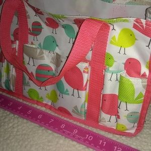 Thirty-One Sm Utility tote - Cute bird pattern